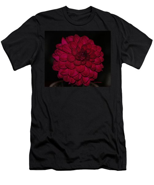 Ornate Red Dahlia Men's T-Shirt (Athletic Fit)
