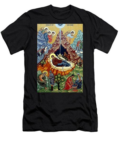 Orthodox Nativity Of Christ Men's T-Shirt (Slim Fit) by Munir Alawi