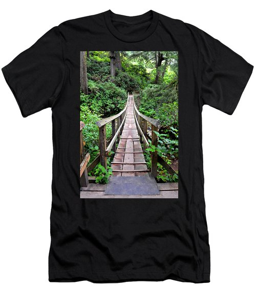 Oswald Swinging Bridge  Men's T-Shirt (Athletic Fit)