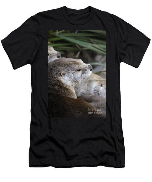 Otter And Family Men's T-Shirt (Athletic Fit)