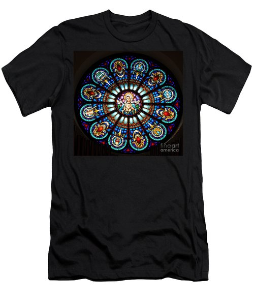 Our Blessed Mother Men's T-Shirt (Slim Fit) by Debby Pueschel