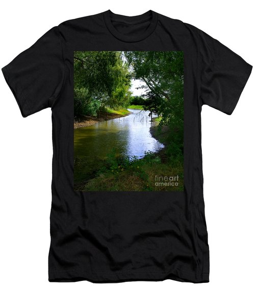 Men's T-Shirt (Slim Fit) featuring the photograph Our Fishing Hole by Peter Piatt