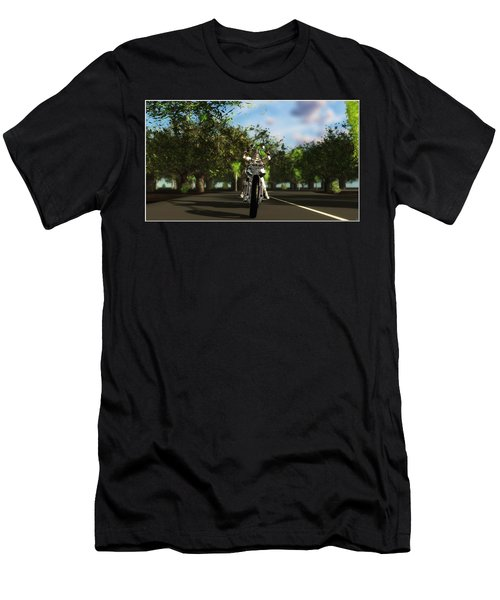 Men's T-Shirt (Slim Fit) featuring the digital art Out For A Ride... by Tim Fillingim