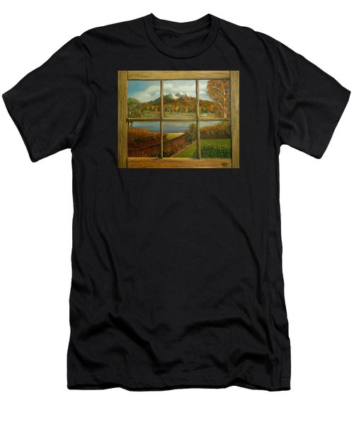 Out My Window-autumn Day Men's T-Shirt (Athletic Fit)