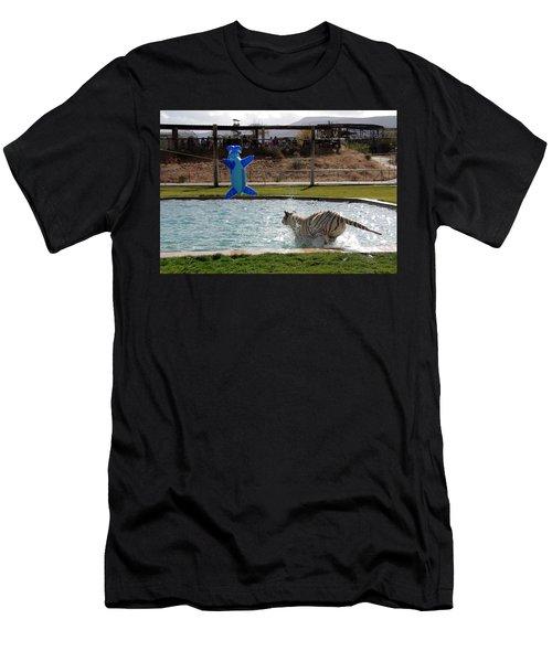Out Of Africa Tiger Splash 3 Men's T-Shirt (Athletic Fit)