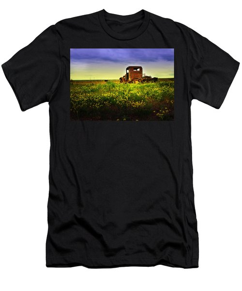 Men's T-Shirt (Slim Fit) featuring the photograph Out To Pasture by Sonya Lang