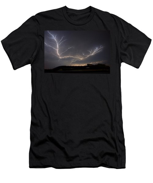 Men's T-Shirt (Slim Fit) featuring the photograph Over The Lake by Charlotte Schafer