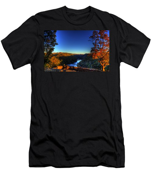 Men's T-Shirt (Slim Fit) featuring the photograph Overlook In The Fall by Jonny D