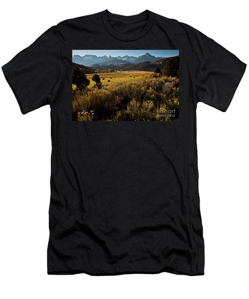 Overlook To Mt. Sneffles Men's T-Shirt (Slim Fit) by Steven Reed