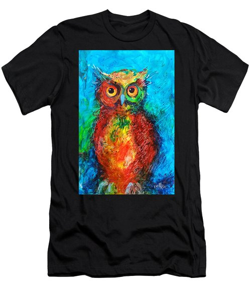 Owl In The Night Men's T-Shirt (Athletic Fit)