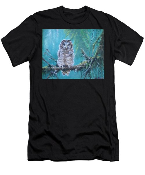 Owl In The Woods Men's T-Shirt (Athletic Fit)