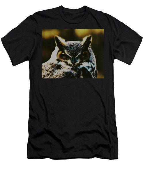 Owl Portrait Men's T-Shirt (Athletic Fit)