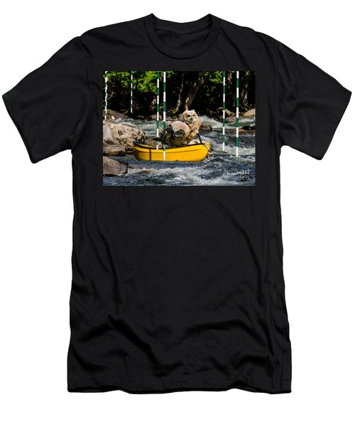 Owlets In A Canoe Men's T-Shirt (Athletic Fit)