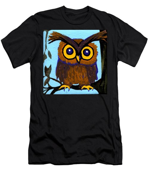 Owlette Men's T-Shirt (Slim Fit) by Genevieve Esson