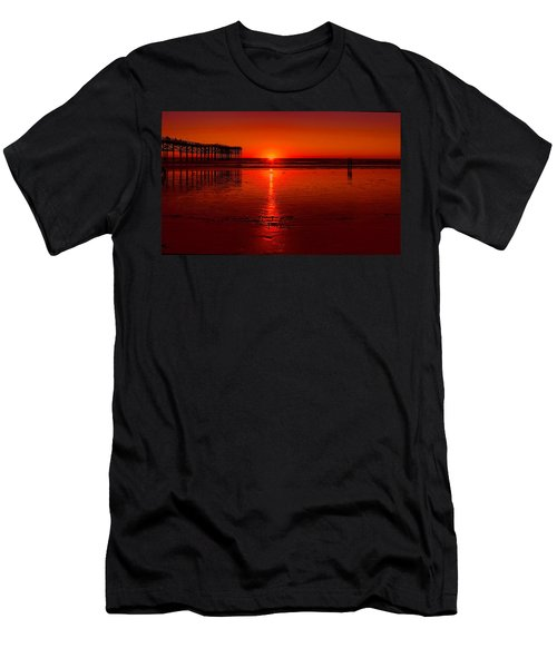 Pacific Beach Sunset Men's T-Shirt (Athletic Fit)