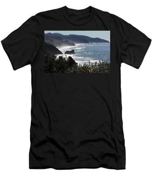 Pacific Mist Men's T-Shirt (Slim Fit) by Karen Wiles