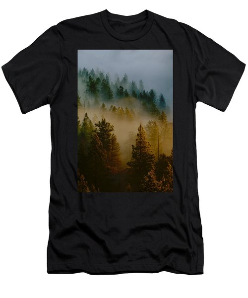Pacific Northwest Morning Mist Men's T-Shirt (Athletic Fit)