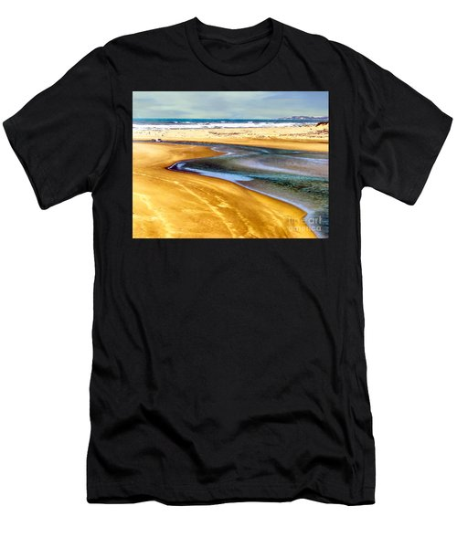 Pacific Ocean Beach Santa Barbara Men's T-Shirt (Athletic Fit)