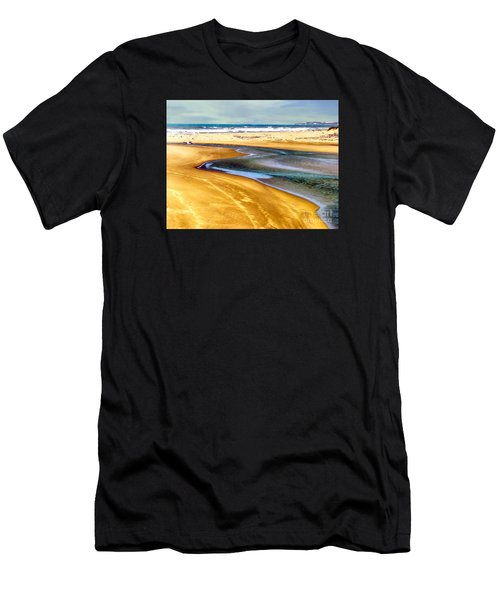 Pacific Ocean Beach Santa Barbara Men's T-Shirt (Athletic Fit)