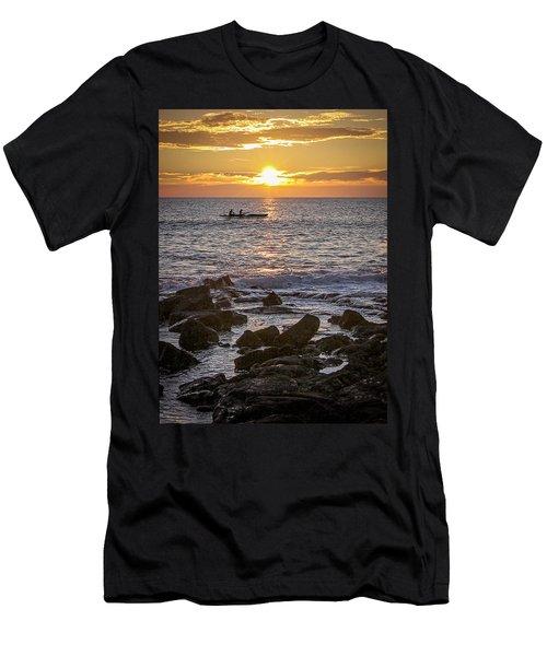 Paddlers At Sunset Portrait Men's T-Shirt (Athletic Fit)