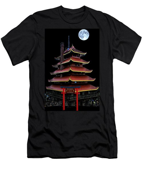 Pagoda Men's T-Shirt (Slim Fit) by DJ Florek