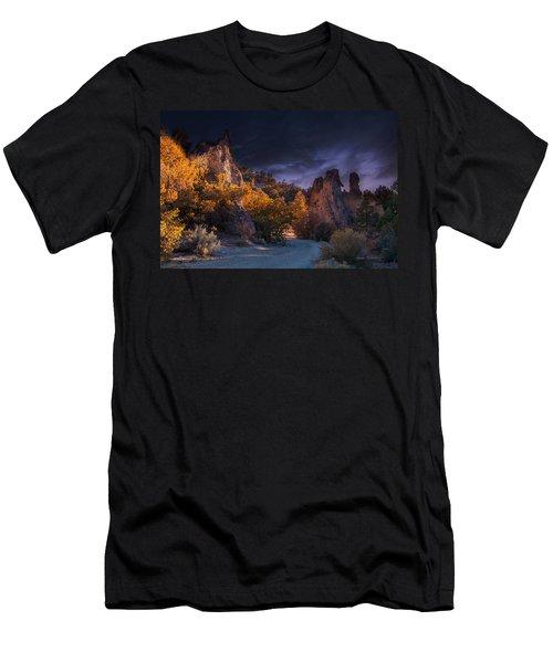Men's T-Shirt (Athletic Fit) featuring the photograph Pahrump - Road To Wheeler Peak by Gunter Nezhoda