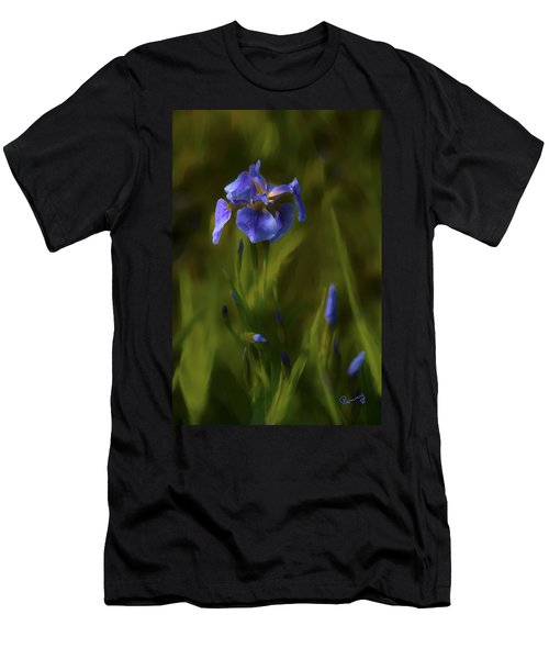 Painted Alaskan Wild Irises Men's T-Shirt (Athletic Fit)