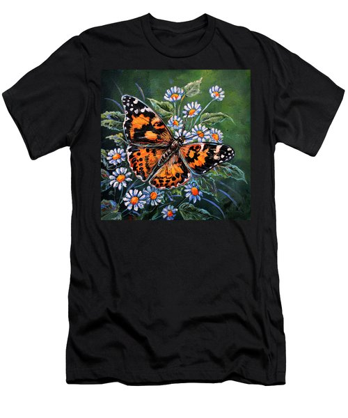 Painted Lady Men's T-Shirt (Slim Fit) by Gail Butler