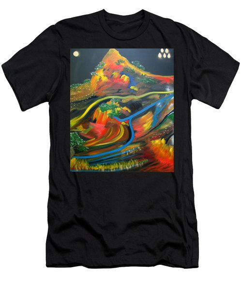 Painted Landscape Men's T-Shirt (Athletic Fit)