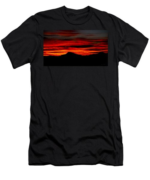 Men's T-Shirt (Slim Fit) featuring the photograph Painted Sky 45 by Mark Myhaver