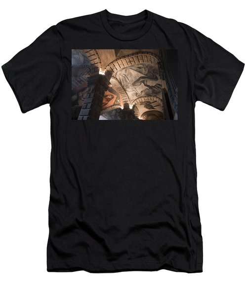 Men's T-Shirt (Slim Fit) featuring the photograph Painted Vaults by Lynn Palmer