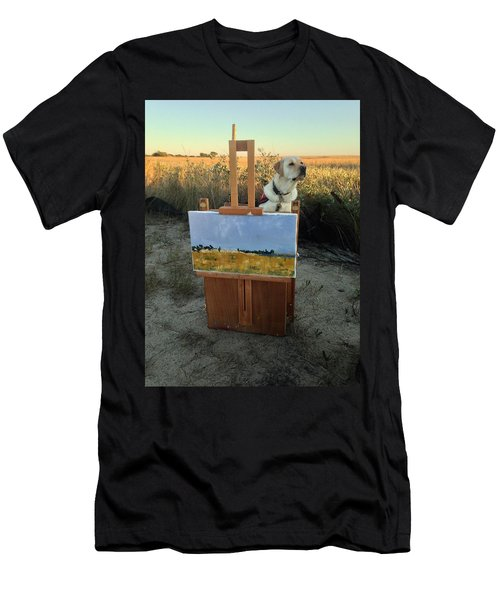 Painterly Lab Men's T-Shirt (Slim Fit) by Mary Ward