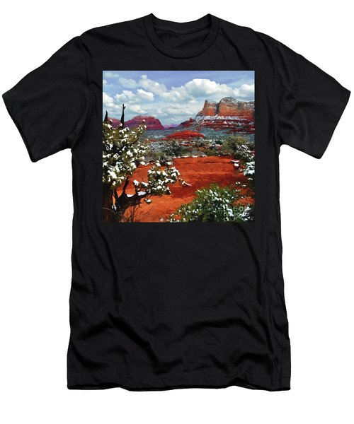 Painting Secret Mountain Wilderness Sedona Arizona Men's T-Shirt (Athletic Fit)