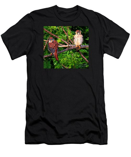 Caribbean Falcons Men's T-Shirt (Slim Fit) by The Art of Alice Terrill