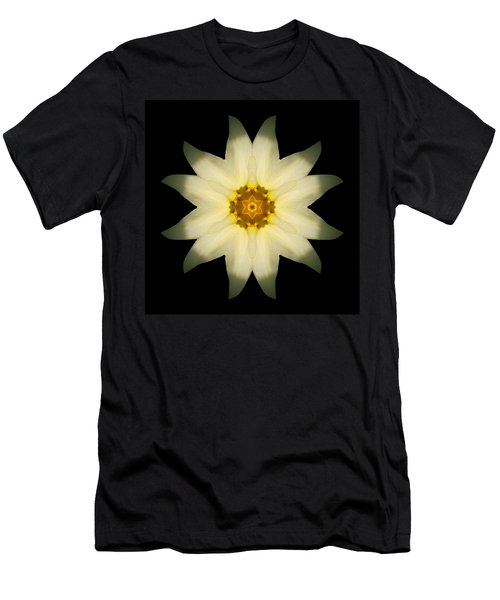 Pale Yellow Daffodil Flower Mandala Men's T-Shirt (Athletic Fit)