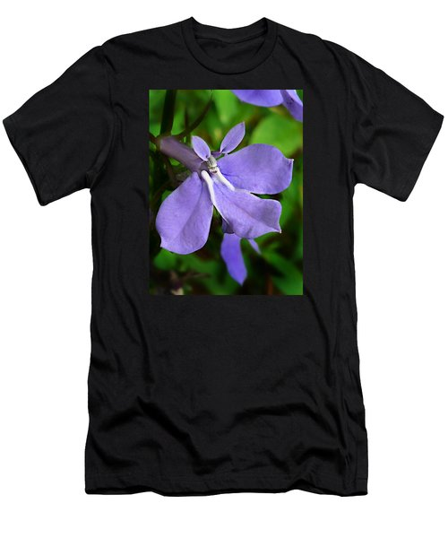 Wild Palespike Lobelia Men's T-Shirt (Slim Fit) by William Tanneberger