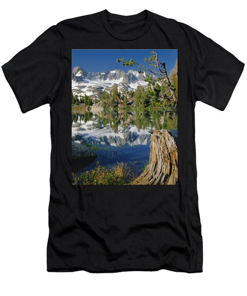 2m6443-v-palisade Peaks And Summit Lake V Men's T-Shirt (Athletic Fit)