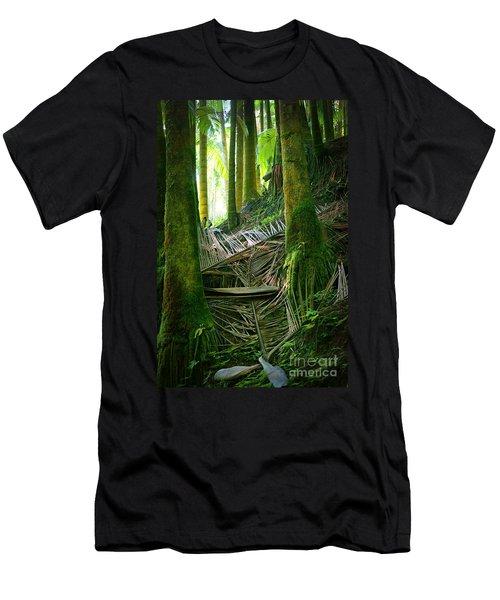 Men's T-Shirt (Slim Fit) featuring the photograph Palm Forest by Ellen Cotton