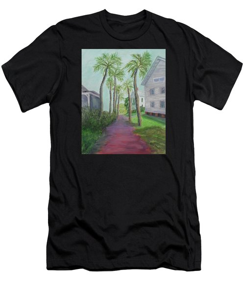 Palm Row In St. Augustine Florida Men's T-Shirt (Athletic Fit)