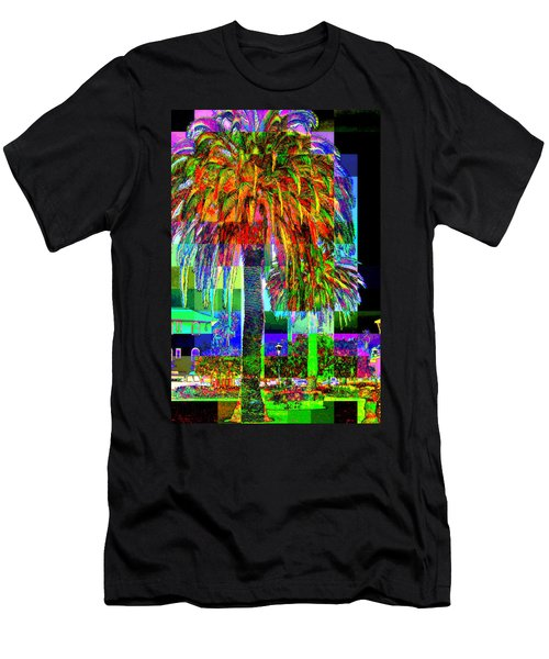 Men's T-Shirt (Slim Fit) featuring the photograph Palm Tree by Jodie Marie Anne Richardson Traugott          aka jm-ART