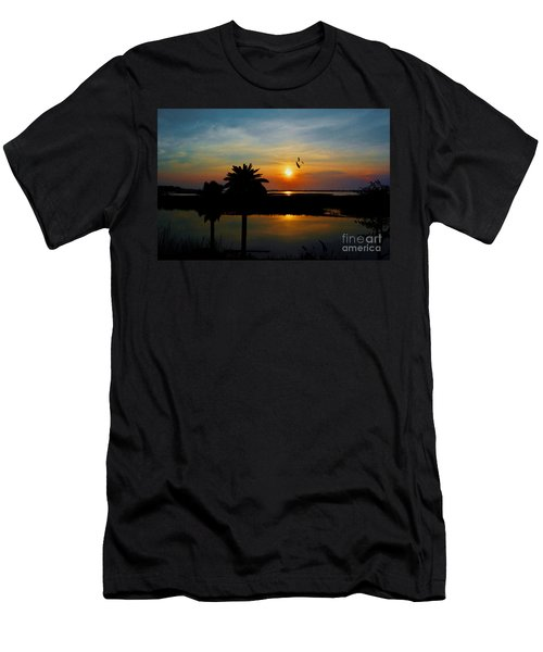 Palm Trees And The Marsh Men's T-Shirt (Athletic Fit)