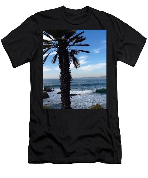 Palm Waves Men's T-Shirt (Slim Fit) by Susan Garren