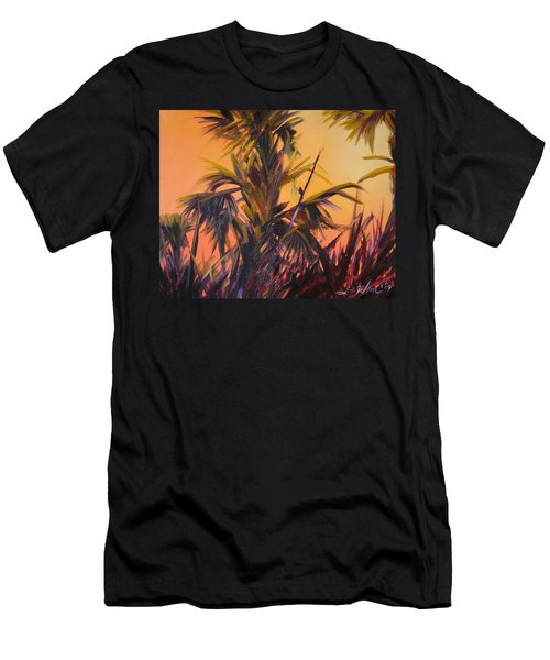Palmettos At Dusk Men's T-Shirt (Athletic Fit)