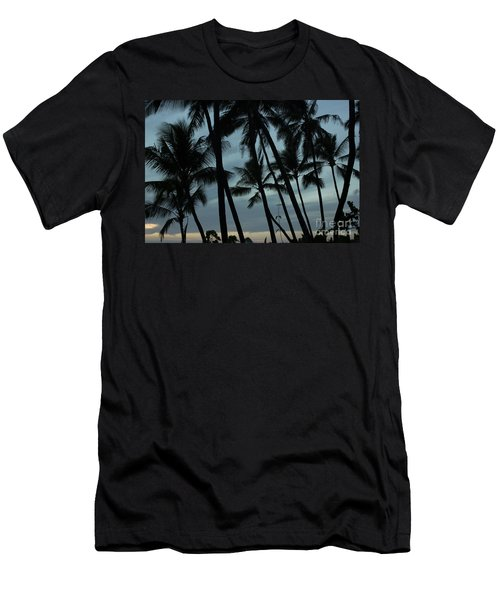 Men's T-Shirt (Slim Fit) featuring the photograph Palms At Dusk by Suzanne Luft