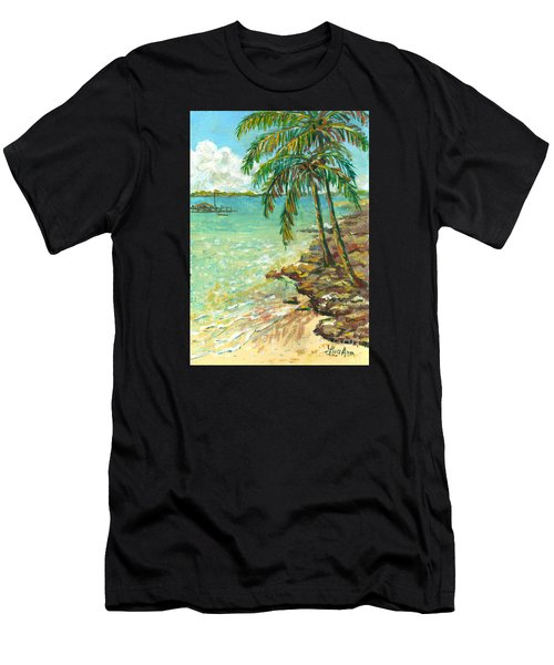 Palms On Point Of Rocks Men's T-Shirt (Athletic Fit)