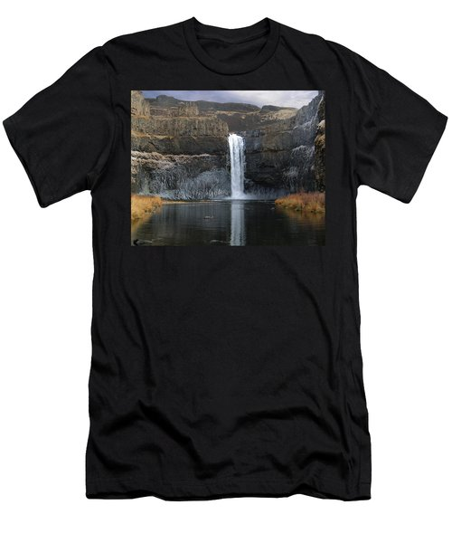 Palouse Falls In The Winter Men's T-Shirt (Athletic Fit)