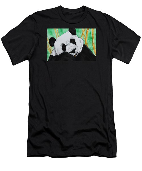 Panda Men's T-Shirt (Slim Fit) by Patricia Olson