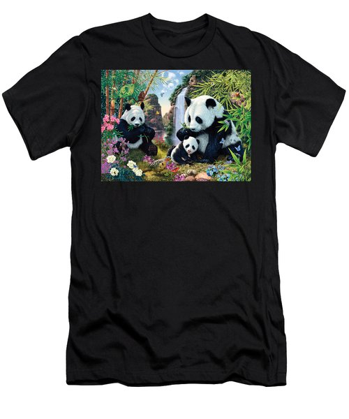 Panda Valley Men's T-Shirt (Athletic Fit)