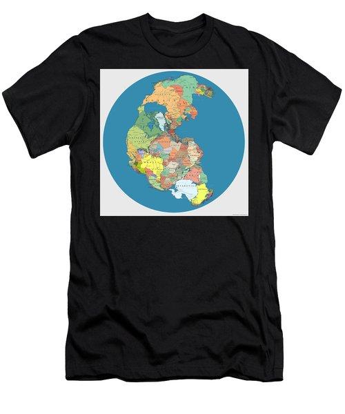 Pangaea Politica By Massimo Pietrobon Men's T-Shirt (Athletic Fit)