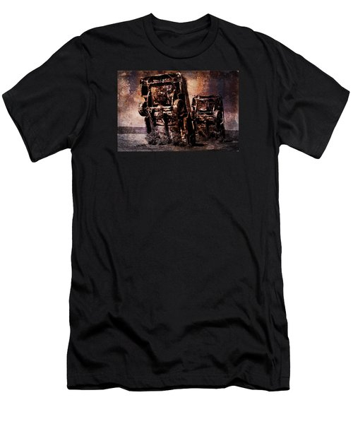 Panic Break Men's T-Shirt (Slim Fit) by Randi Grace Nilsberg
